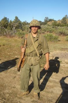 My uniform in action at the PTO reenactment I went to over the weekend. Us Marines Uniform, Marine Corps Uniforms, Ww2 Uniforms, Army Uniform, Military Uniforms, Marine Special Forces, Military Action Figures, Usmc, Us Army