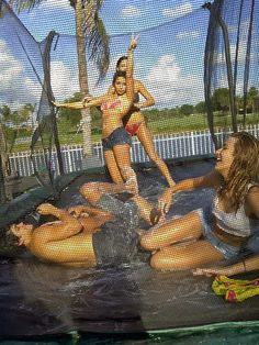 Summer Fun ~ Shaving cream on a trampoline with water --- wouldnt wanna be this undressed but this looks fun Summer Dream, Summer Of Love, Summer 2014, Summer Fun, Trampolines, Summer Nights, Summer Vibes, Good Vibe, Summer Goals