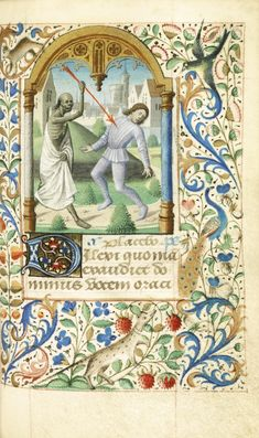 BOOK OF HOURS, use of Bourges, illuminated manuscript on vellum [ Northern France (Paris), c.1470]