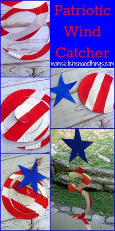 Patriotic Paper Plate Wind Catcher - fun kids craft for the 4th of july!