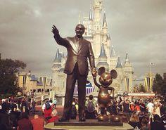 Walt and his Mouse! ❤️ #disney #waltdisney #DisneyWorld Photo taken by Carter Harris