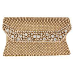 Gold Diamante Clutch Bag - Accessories - Partywear - Occasionwear - Women - TK Maxx Tk Maxx, Occasion Wear, Bag Accessories, Gold, Bags, Stuff To Buy, Women, Handbags
