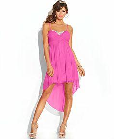 Speechless Juniors' Sequin High-Low Dress - Juniors Dresses ...