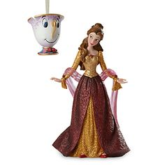 Belle and Chip Couture de Force Holiday Figure and Ornament Set | Disney Store