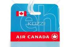 air tickets against white background. - Close-up shot of air Canada ticket over plain white background.