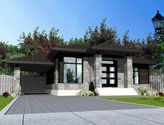 House plans modern bungalow beds 50 New Ideas Best House Plans, Modern House Plans, Small House Plans, Bungalow House Design, Modern House Design, Modern Bungalow Exterior, Architectural Design House Plans, Architecture Design, Contemporary Style Homes