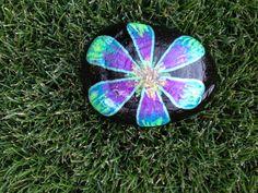 Painted rock flower SNS DESIGNS