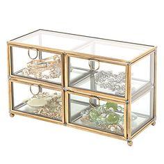 Vintage Clear Glass & Brass Metal 4 Drawer Display Box / ... https://www.amazon.com/dp/B01F7XNCH2/ref=cm_sw_r_pi_dp_x_ULjnybTY8P2V9