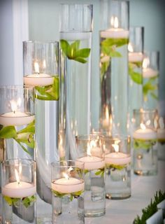 Floating candles and orchids