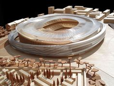 """Model of the project """"New Camp Nou stadium"""" 2007"""