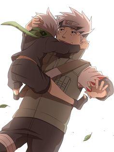 Kakashi and his father sokumo hatake