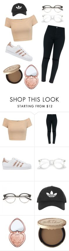 """Instagram baddie outfit ✨"" by veapauline ❤ liked on Polyvore featuring Alice + Olivia, adidas Originals, Topshop, Too Faced Cosmetics, adidas, instagram and baddie"