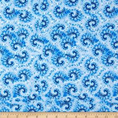 Tie Dye Swirl Blue from @fabricdotcom  This cotton print is perfect for quilting, home decor accents and apparel. Colors include shades of blue.