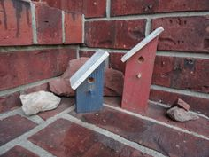 Small Red White and Blue Decorative Bird Houses by HungryBlades, $4.50