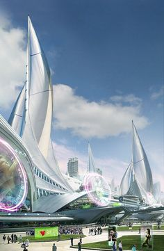 Sail City by aksu, futuristic architecture, future city, futuristic city - Love Cars & Motorcycles Futuristic City, Futuristic Technology, Futuristic Design, Modern Architecture Design, Futuristic Architecture, Amazing Architecture, Minimalist Architecture, City Architecture, Fantasy City