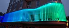 light RIBA Announces 2008 Award Winners Facade Lighting Custom Lighting, Cool Lighting, Outdoor Lighting, Facade Lighting, Exterior Lighting, Building Exterior, Building Facade, Futuristic Architecture, Facade Architecture