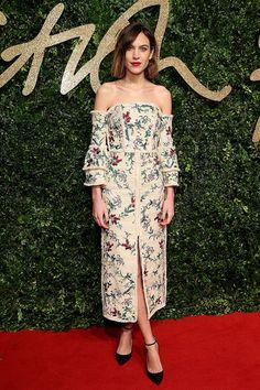 Alexa Chung in Erdem at the British Fashion Awards 2015