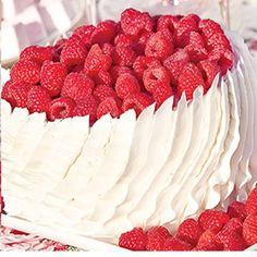 Raspberry Ribbon Cake
