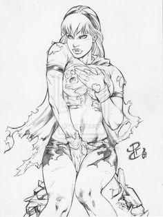 SuperGirl by Renato Camilo Comic Book Artists, Comic Books Art, Comic Art, Pin Up Illustration, Hero Girl, Pen Art, Coloring Books, Adult Coloring, Cool Artwork