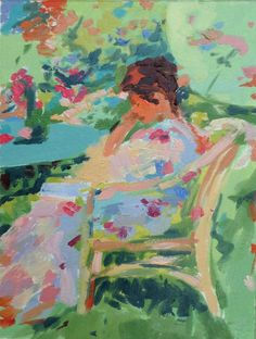 Oil sketch after Richard Emil Miller Haidee-Jo Summers