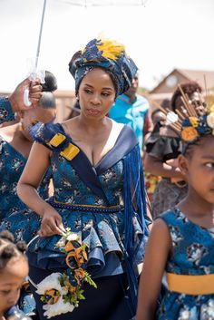 A Tswana Inspired Traditinal Wedding African Bridal Dress, African Print Wedding Dress, African Wedding Attire, African Wear Dresses, Seshweshwe Dresses, African Weddings, African Attire, Zulu Traditional Wedding Dresses, South African Traditional Dresses