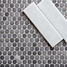 Floor Tile Penny Rounds Mosaic Tile Honed Bardiglio