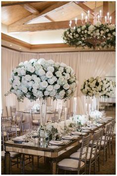 white ballroom wedding reception idea; photo: Jasmine Star