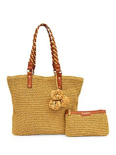 a708815b69b A paper straw tote perfect for the beach or everyday essentials! Take your  fun-in-the-sun ensembles to new heights with this utilitarian yet ultra  chic ...