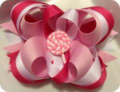 Girls hair accessory bow clip  Lollipop Lollipop by CreateAlley, $7.99