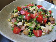 Black Beans with Summer Vegetable Sauté | Not Eating Out in New York