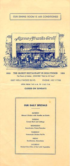 Musso & Frank's Grill - 1954