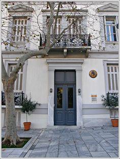 Mykonos Greece, Crete Greece, Athens Greece, Neoclassical Interior, Neoclassical Architecture, Bauhaus, Attica Athens, Antebellum Homes, Greek House