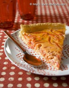 Photo de la recette : Tarte rouge au poivron et tomate