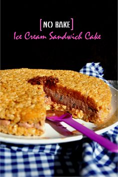 It's an ice cream sandwich but shaped into a cake. It's a cake but does not require baking. Check out the recipe for this no bake ice cream sandwich cake! Frozen Desserts, Frozen Treats, Just Desserts, Dessert Recipes, Sandwich Cake, Sandwiches, Brownie Cake, Brownies, Layered Desserts