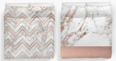 Rose gold and marble duvet covers on Redbubble - shop the range here!