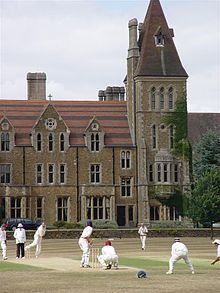 Charterhouse School, Godalming, Surrey, England. Founded in 1611 by Thomas Sutton, the school was originally situated in Charterhouse Square in Smithfield, London. Former pupils are known as Old Carthusians or OCs