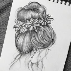 is part of pencil-drawings - pencil-drawings Pencil Sketch Drawing, Girl Drawing Sketches, Art Drawings Sketches Simple, Pencil Art Drawings, Sketch Painting, Realistic Drawings, Tumblr Art Drawings, Cool Sketches, Hipster Drawings