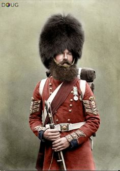Colour Sergeant William McGregor, 1st Battalion Scots Fusilier Guards, July 1856. He was wounded during the Battle at the River Alma on 20th September 1854 and wears both the British Crimea and the Order of the Medjidie Turkish medals.