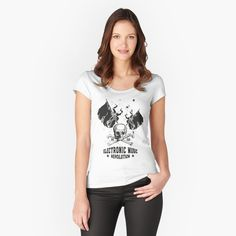 'I Love Music Fitted Scoop T-Shirt by JaysonBangit Shopping Pas Cher, Fashion Art, Face Fashion, Fashion Women, Fashion Ideas, Design Mignon, I Love Music, Shirt Designs, Eagle Design
