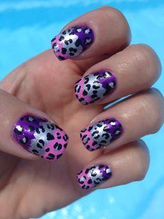 Color Blocking Leopard Nail Art!