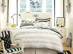 I love the PBteen Dandy Dot Addison Bedroom on pbteen.com