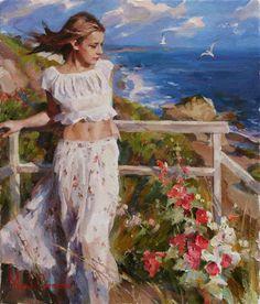 Original Painting, Summer Breeze by Michael & Inessa Garmash