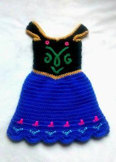 crochet Disney's Frozen 'Princess Anna' por momscrochetcorner                                                                                                                                                                                 Más