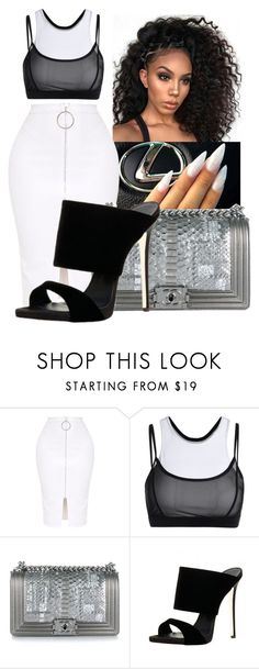 """🎤"" by kenndrips ❤ liked on Polyvore featuring Chanel"