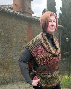 TUSCAN WAll TABARD by Jane Thornley  I like the colors! Even the cowl might work.