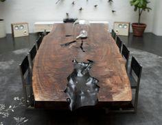 FURNITURE | WALNUT SLAB DINING TABLE | BDDW