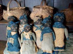 Cabin dolls in early textiles by Alecia Alexander Maynard