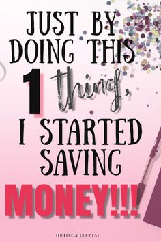 Just by doing this 1 thing, you will start saving money today! Just by doing this 1 thing, you will start saving money today! Ways To Save Money, Money Tips, Money Saving Tips, Managing Money, Money Plan, Money Now, Money Today, Cash Money, Money Fast