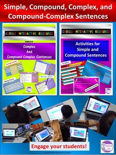 Great for teaching types of sentences- simple, compound, compound-complex sentences! Simple And Compound Sentences, Compound Complex Sentence, Complex Sentences, Grammar Skills, Grammar And Punctuation, Teaching Grammar, Teaching Tips, Sorting Activities, Interactive Activities