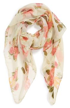 Free shipping and returns on David & Young Floral Woven Scarf (Juniors) at Nordstrom.com. A dreamy rose-scape unfurls across a gauzy vintage-inspired scarf.